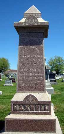 MAXWELL, ABNER MONUMENT - Holmes County, Ohio   ABNER MONUMENT MAXWELL - Ohio Gravestone Photos