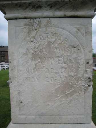 WISE MAXWELL, ANNA - Holmes County, Ohio   ANNA WISE MAXWELL - Ohio Gravestone Photos