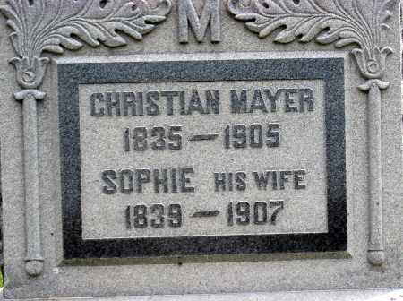MAYER, CHRISTIAN - Holmes County, Ohio | CHRISTIAN MAYER - Ohio Gravestone Photos