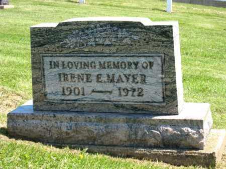 MAYER, IRENE E - Holmes County, Ohio   IRENE E MAYER - Ohio Gravestone Photos