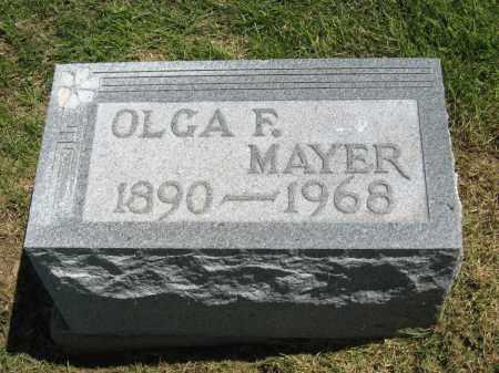 MAYER, OLGA F. - Holmes County, Ohio | OLGA F. MAYER - Ohio Gravestone Photos