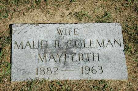 MAYFERTH, MAUD R. - Holmes County, Ohio | MAUD R. MAYFERTH - Ohio Gravestone Photos