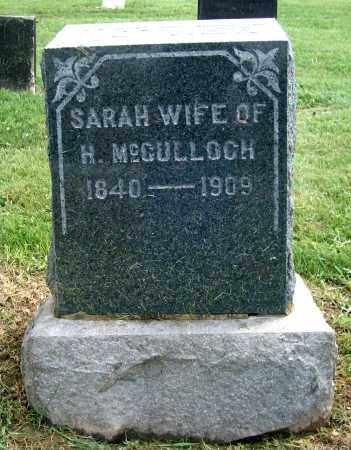 MCCULLOCH, SARAH - Holmes County, Ohio | SARAH MCCULLOCH - Ohio Gravestone Photos