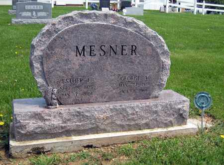 MESNER, GEORGE A. - Holmes County, Ohio | GEORGE A. MESNER - Ohio Gravestone Photos