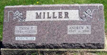 BORNTREGER MILLER, EMMA F - Holmes County, Ohio | EMMA F BORNTREGER MILLER - Ohio Gravestone Photos