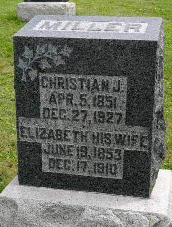 SCHROCK MILLER, ELIZABETH - Holmes County, Ohio | ELIZABETH SCHROCK MILLER - Ohio Gravestone Photos