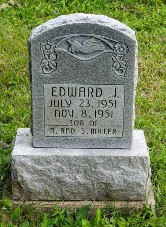 MILLER, EDWARD J. - Holmes County, Ohio | EDWARD J. MILLER - Ohio Gravestone Photos
