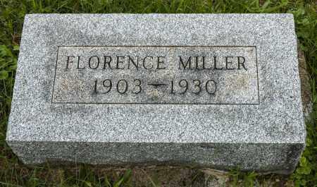 MILLER, FLORENCE - Holmes County, Ohio | FLORENCE MILLER - Ohio Gravestone Photos