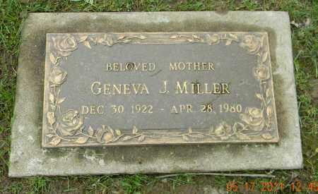 MILLER, GENEVA J. - Holmes County, Ohio | GENEVA J. MILLER - Ohio Gravestone Photos
