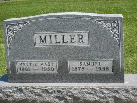 MAST MILLER, HETTIE - Holmes County, Ohio | HETTIE MAST MILLER - Ohio Gravestone Photos