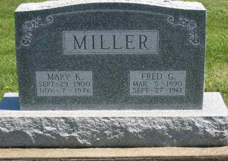 MILLER, FRED G. - Holmes County, Ohio   FRED G. MILLER - Ohio Gravestone Photos
