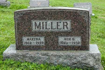 MILLER, MARTHA - Holmes County, Ohio | MARTHA MILLER - Ohio Gravestone Photos