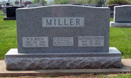 OSWALD MILLER, MERVANNA - Holmes County, Ohio | MERVANNA OSWALD MILLER - Ohio Gravestone Photos
