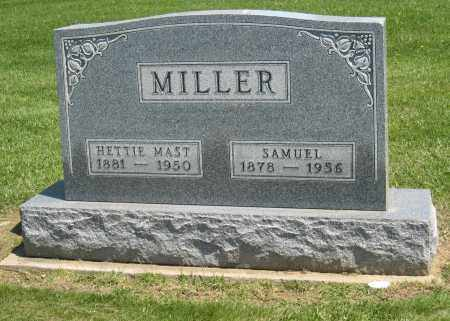 MAST MILLER, NETTIE - Holmes County, Ohio | NETTIE MAST MILLER - Ohio Gravestone Photos