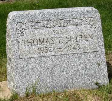 MITTEN, THOMAS F - Holmes County, Ohio   THOMAS F MITTEN - Ohio Gravestone Photos