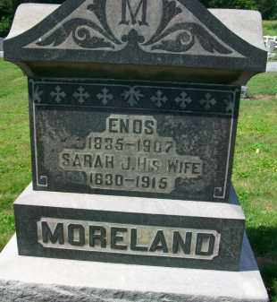 MORELAND, ENOS - Holmes County, Ohio | ENOS MORELAND - Ohio Gravestone Photos