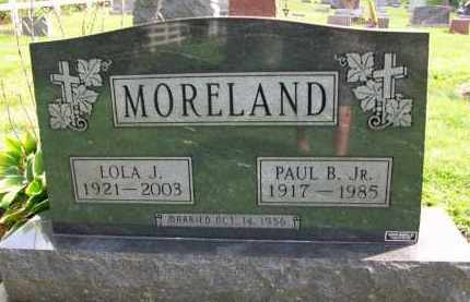 MORELAND, LOLA J. - Holmes County, Ohio | LOLA J. MORELAND - Ohio Gravestone Photos