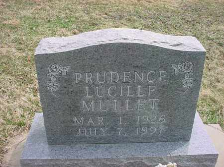 MULLET, PRUDENCE LUCILLE - Holmes County, Ohio | PRUDENCE LUCILLE MULLET - Ohio Gravestone Photos