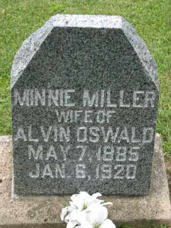 MILLER OSWALD, MINNIE - Holmes County, Ohio | MINNIE MILLER OSWALD - Ohio Gravestone Photos