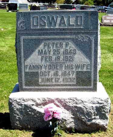 OSWALD, PETER P. - Holmes County, Ohio | PETER P. OSWALD - Ohio Gravestone Photos