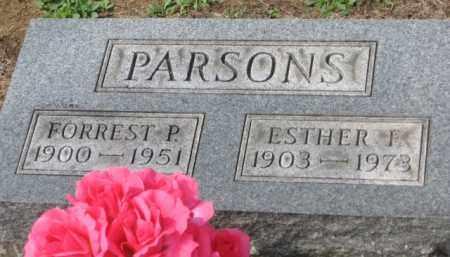 PARSONS, ESTHER F. - Holmes County, Ohio | ESTHER F. PARSONS - Ohio Gravestone Photos