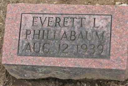 PHILLABAUM, EVERETT L. - Holmes County, Ohio | EVERETT L. PHILLABAUM - Ohio Gravestone Photos