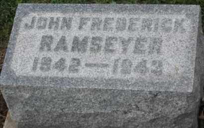 RAMSEYER, JOHN FREDRICK - Holmes County, Ohio   JOHN FREDRICK RAMSEYER - Ohio Gravestone Photos