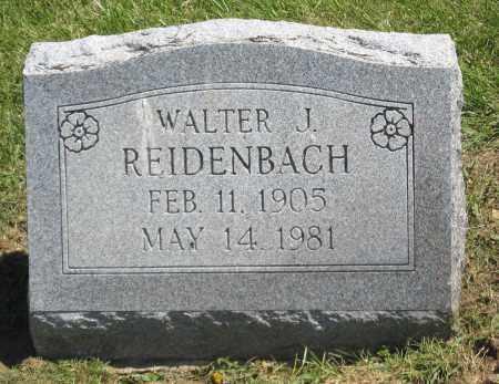 REIDENBACH, WALTER J. - Holmes County, Ohio | WALTER J. REIDENBACH - Ohio Gravestone Photos