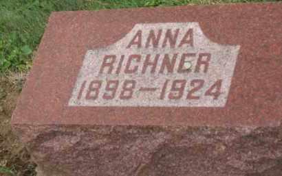 RICHNER, ANNA - Holmes County, Ohio | ANNA RICHNER - Ohio Gravestone Photos