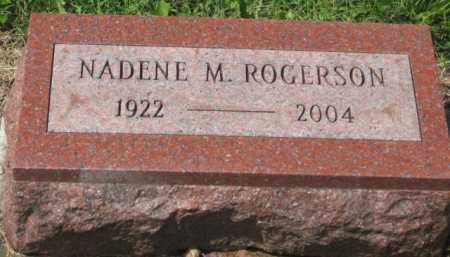 ROGERSON, NADENE M. - Holmes County, Ohio   NADENE M. ROGERSON - Ohio Gravestone Photos