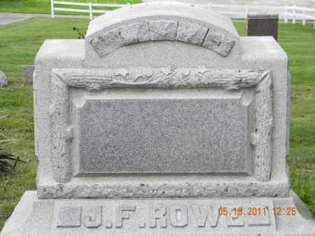 ROWE, J.F. - Holmes County, Ohio | J.F. ROWE - Ohio Gravestone Photos