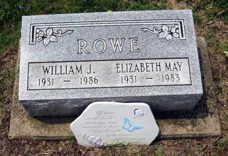 ROWE, ELIZABETH MAY - Holmes County, Ohio | ELIZABETH MAY ROWE - Ohio Gravestone Photos