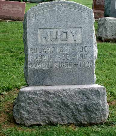 RUDY, FANNIE - Holmes County, Ohio | FANNIE RUDY - Ohio Gravestone Photos