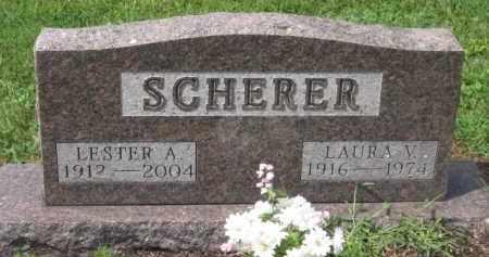 SCHERER, LESTER A. - Holmes County, Ohio | LESTER A. SCHERER - Ohio Gravestone Photos