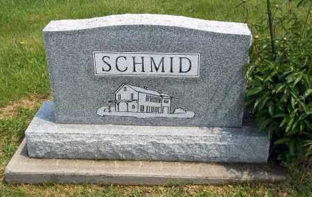 SCHMID, BACK OF STONE - Holmes County, Ohio | BACK OF STONE SCHMID - Ohio Gravestone Photos