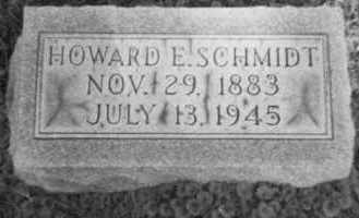 SCHMIDT, HOWARD E. - Holmes County, Ohio   HOWARD E. SCHMIDT - Ohio Gravestone Photos