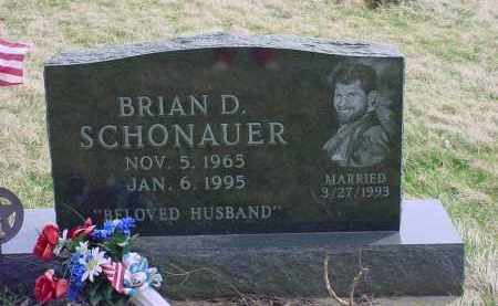 SCHONAUER, BRIAN D. - Holmes County, Ohio | BRIAN D. SCHONAUER - Ohio Gravestone Photos