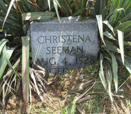 SEEMAN, CHRISTENA - Holmes County, Ohio   CHRISTENA SEEMAN - Ohio Gravestone Photos