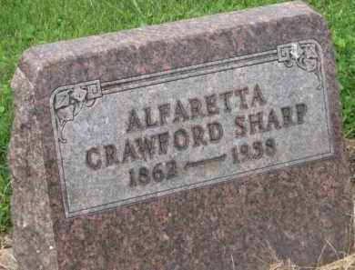 CRAWFORD SHARP, ALFARETTA - Holmes County, Ohio | ALFARETTA CRAWFORD SHARP - Ohio Gravestone Photos