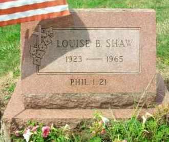 SHAW, LOUISE B. - Holmes County, Ohio | LOUISE B. SHAW - Ohio Gravestone Photos
