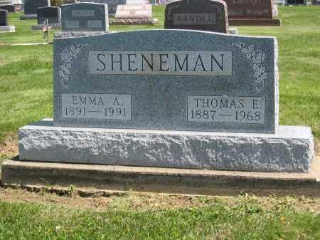 SHENEMAN, EMMA A. - Holmes County, Ohio   EMMA A. SHENEMAN - Ohio Gravestone Photos