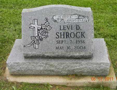 SHROCK, LEVI D. - Holmes County, Ohio | LEVI D. SHROCK - Ohio Gravestone Photos