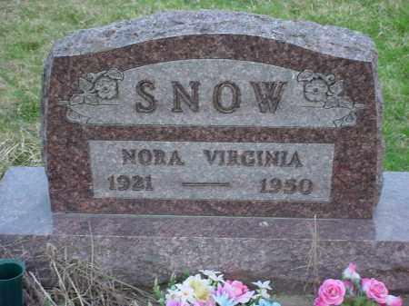 SNOW, NORA VIRGINIA - Holmes County, Ohio | NORA VIRGINIA SNOW - Ohio Gravestone Photos