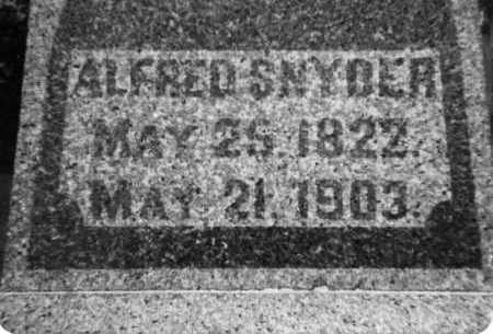 SNYDER, ALFRED - Holmes County, Ohio | ALFRED SNYDER - Ohio Gravestone Photos