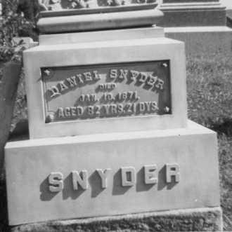 SNYDER, DANIEL - Holmes County, Ohio | DANIEL SNYDER - Ohio Gravestone Photos