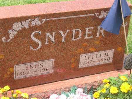 SNYDER, LETTA M. - Holmes County, Ohio | LETTA M. SNYDER - Ohio Gravestone Photos