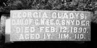 SNYDER, GEORGIA GLADYS - Holmes County, Ohio   GEORGIA GLADYS SNYDER - Ohio Gravestone Photos