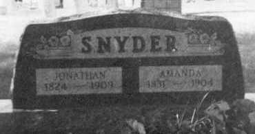 SNYDER, AMANDA - Holmes County, Ohio | AMANDA SNYDER - Ohio Gravestone Photos