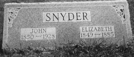 SNYDER, ELIZABETH - Holmes County, Ohio | ELIZABETH SNYDER - Ohio Gravestone Photos