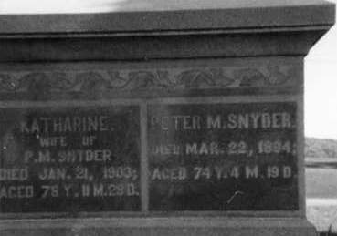 SNYDER, PETER M. - Holmes County, Ohio | PETER M. SNYDER - Ohio Gravestone Photos